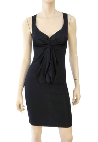 CHANEL Rayon Bodycon Mini Dress, FR 36 / US 4