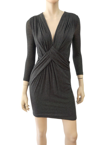 GIVENCHY Twist-Front Bodycon Mini Dress, XS