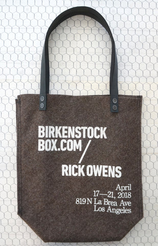 BIRKENSTOCK x RICK OWENS Leather Trim Printed Boiled Wool Tote Bag Lmtd Edition