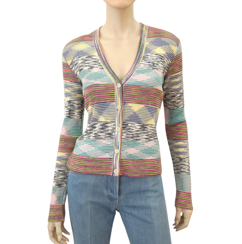 M MISSONI Wool Blend Knit Button Front Cardigan, IT 44 / US 8
