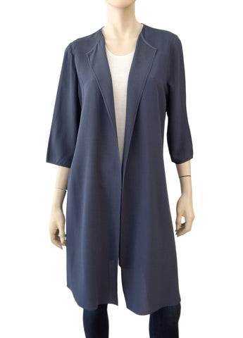 PETER COHEN Crepe Open-Front Duster, Medium
