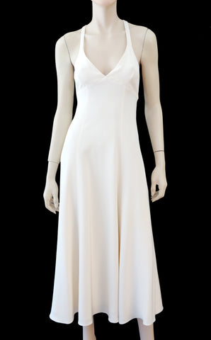 RALPH LAUREN COLLECTION Silk Fit & Flare Dress, Sz 4
