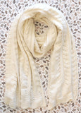 NORDSTROM Ivory Thick Heavy Knit Wool Blend XL Scarf