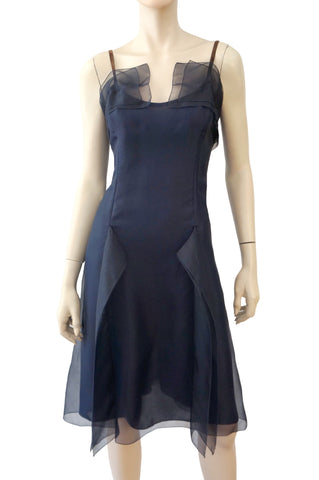 CAROLINA HERRERA Silk Cocktail Dress, Sz 12