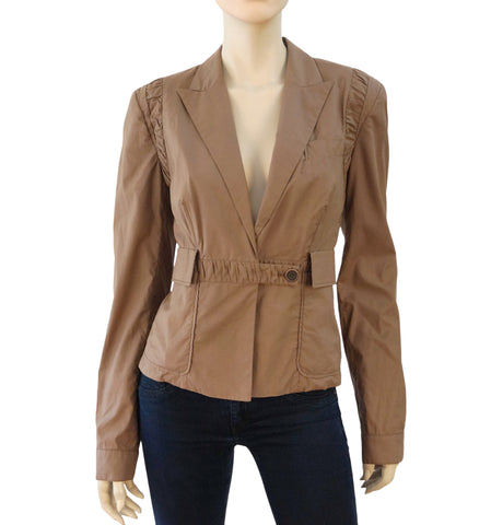 STELLA MCCARTNEY Single-Button Cotton Jacket, IT 42 / US 6