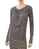 BALENCIAGA Nicolas Ghesquiere Black White Stretch Jersey Tunic Dress FR38 US 6