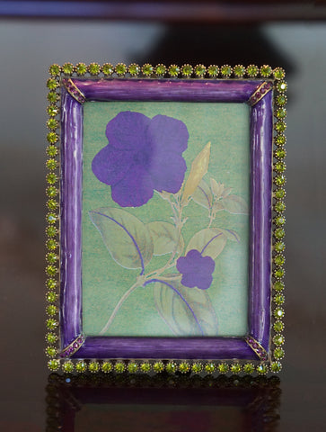 JAY STRONGWATER Emilia Purple Chartreuse Stone Edge Frame 3x4