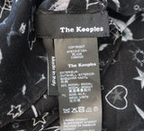 THE KOOPLES Black Silk Blend Halloween Horror Show Scarf XL BRAND NEW