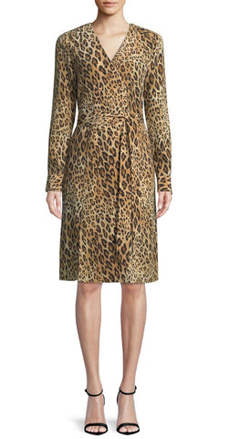 FRAME Sgt. Pepper Leopard Print Silk Dress S NEW WITH TAGS