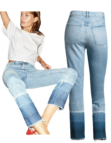 3x1 W4 Shelter High Rise Straight Leg Crop Jeans Spectrum 26