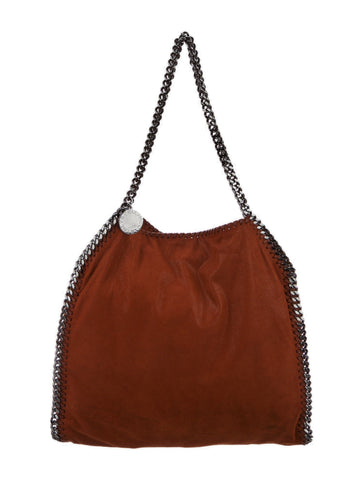 STELLA McCARTNEY Falabella Brown Faux Brushed Leather Tote