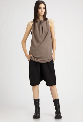 RICK OWENS Cashmere Pod Shorts, IT 40 / US 4-6