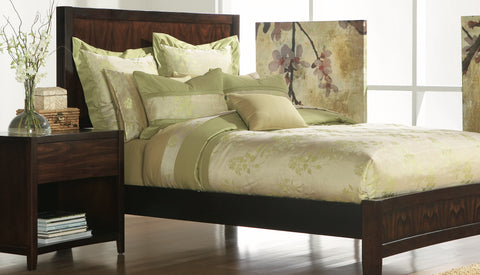 THE WELL DRESSED BED Green Queen King Zenden Duvet Bedding Collection Set