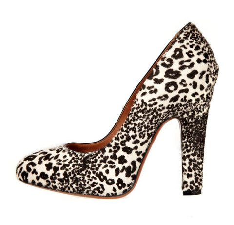 ALAIA 39.5 Black and White Leopard Animal Pony Hair Pumps Heels 9