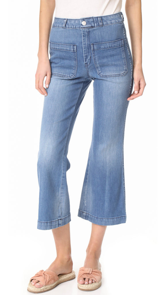 AMO Sailor Crop Flare Stretch Jeans First Mate 26