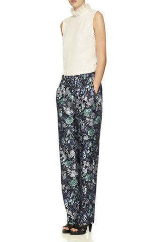 BURBERRY Floral Silk Pajama Pants w/ Tags, UK 8 / US 4