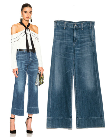 CITIZENS of HUMANITY Abigail Wide-Leg High-Rise Culottes Jeans in Halo 26