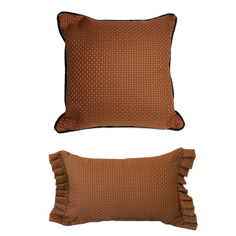 THE WELL DRESSED BED Spice Basket Checkered Accent Pillow WITH INSERT