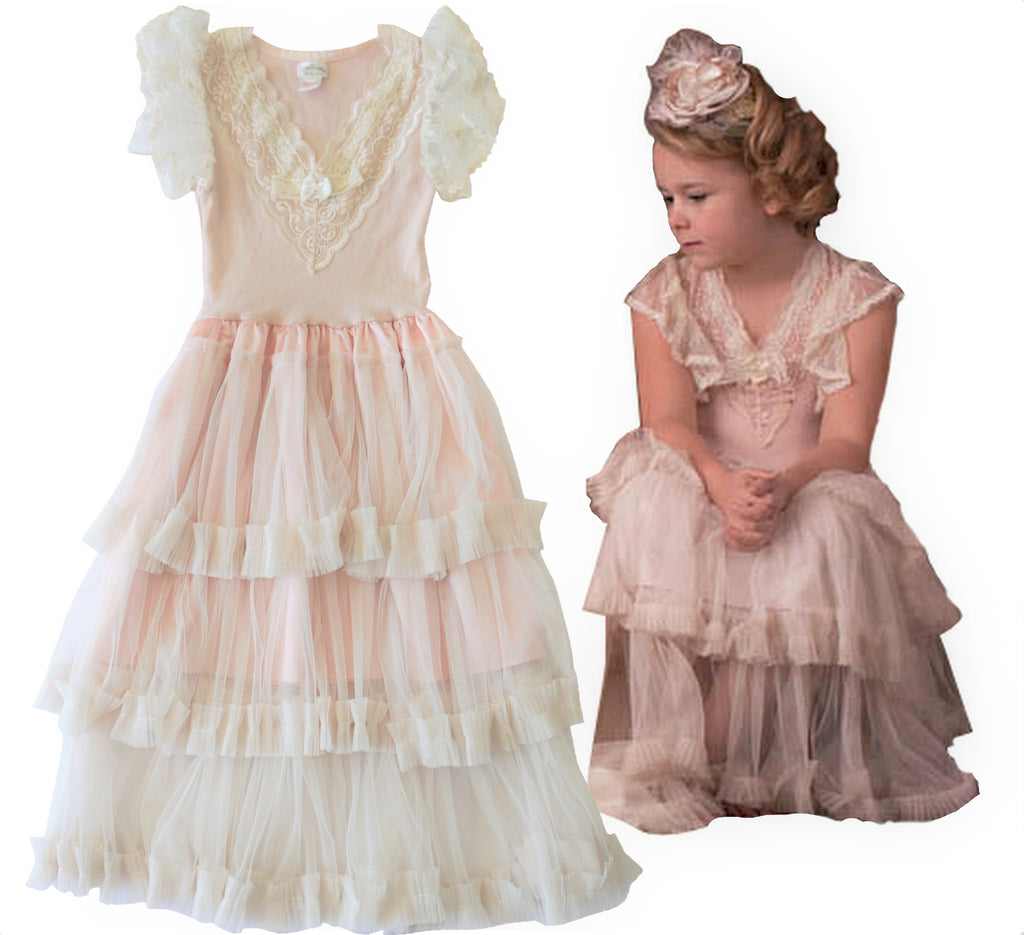 DOLLCAKE 10 Tiered Ivory Tulle Gown Party Dress BRAND NEW