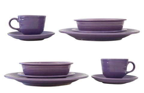 FIESTAWARE Vintage Lilac 5pc Place Settings Dinner Salad Coupe Cup Saucer 10pcs