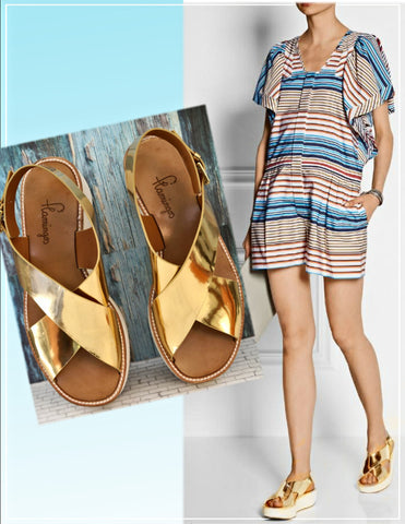 FLAMINGO'S Malabar Platform Sandals, 39/8.5
