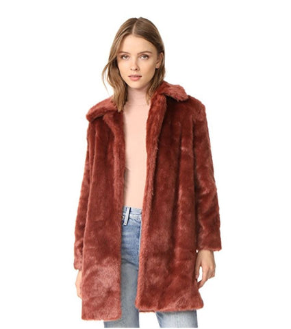 FRAME Faux Fur Coat w/ Tags, Large
