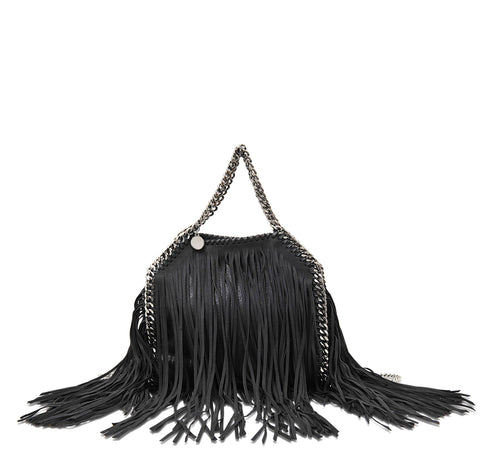 STELLA MCCARTNEY Black Shaggy Deer Falabella Shoulder Bag BRAND NEW
