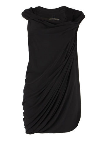 ALL SAINTS Draped Black Stretch Jersey Gia Top UK14 US 10 NEW WITH TAGS