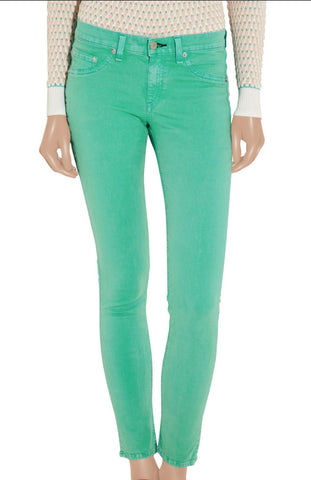 RAG & BONE Biscay Mid Rise The Legging Jeans in Green 26