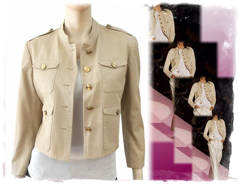 GUCCI Military Cotton Jacket, IT 44 / US 8