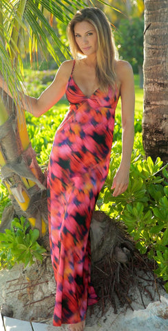 HELEN JON Elle Gypsy Maxi Dress Beach Cover-up S BRAND NEW