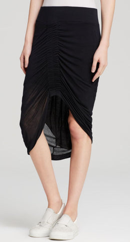 HELMUT LANG Ruched Front Jersey Skirt, S/P
