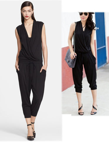 HELMUT LANG Wrap Top Feather Jersey Jumpsuit P BRAND NEW