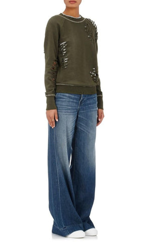 NSF Hepburn Distressed High Rise Wide Leg Jeans  26