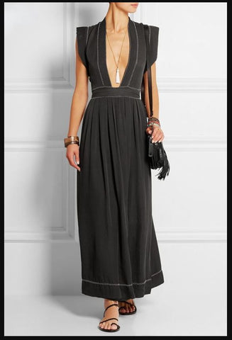 ISABEL MARANT 'Mick' Silk-Georgette Maxi Dress, FR 38 / US 6