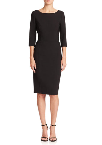 CAROLINA HERRERA Icon Collection Double Face Sheath Dress 10 IN STORES NOW