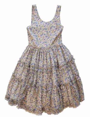 ISABEL GARRETON Girl's Sz 10 Floral Print Sleeveless Dress NEW WITH TAGS