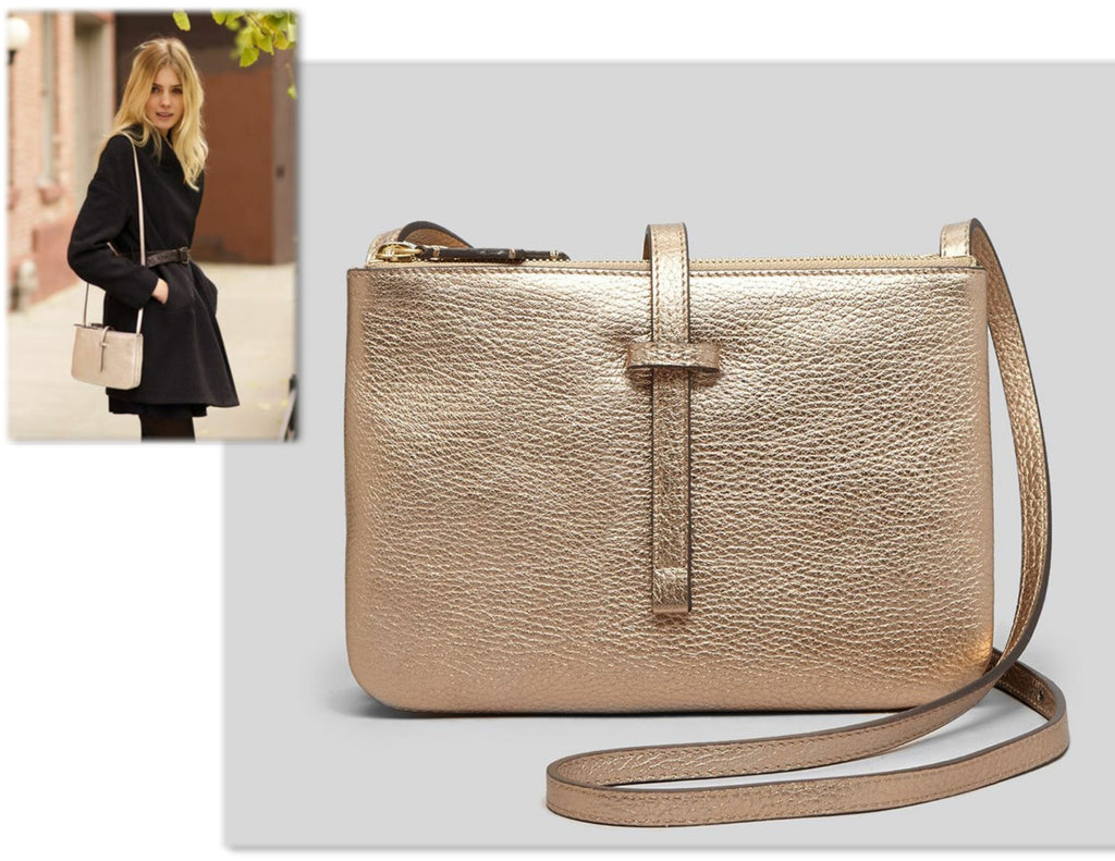 ANNABEL INGALL Metalic Jojo Crossbody Bag
