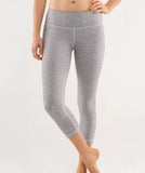 LULULEMON Ghost Herringbone Cropped Leggings, Sz 2