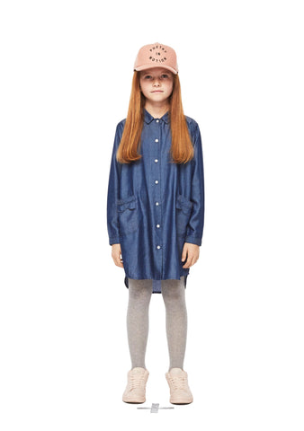 MOLO Girls 10 Chambray Blue Shirt Dress NEW WITH TAGS