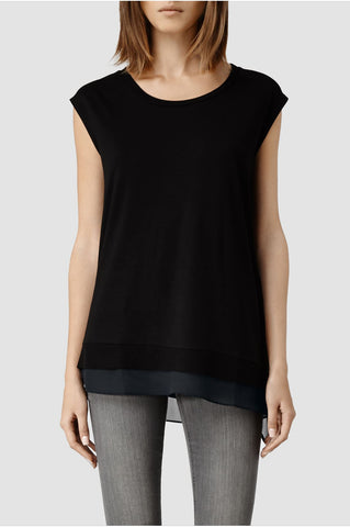 ALL SAINTS Sleeveless Black Miro Top