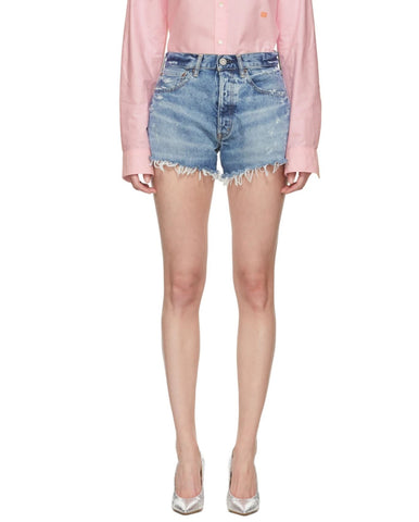 MOUSSY VINTAGE Wisconsin Distressed Denim Shorts NEW WITH TAGS CURRENT SEASON