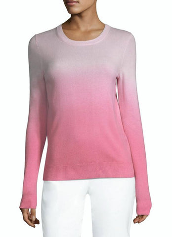 MICHAEL KORS COLLECTION Pink Ombre Cashmere Sweater M NEW