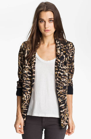 PJK PATTERSON J. KINCAID Animal Print 'Rawxi' Jacket Blazer XS