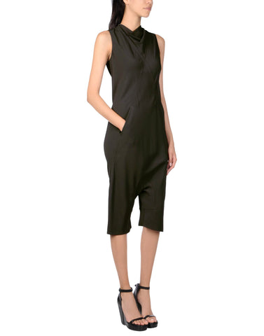 RICK OWENS Drop Rise Crepe Jumpsuit, IT 40 / US 4