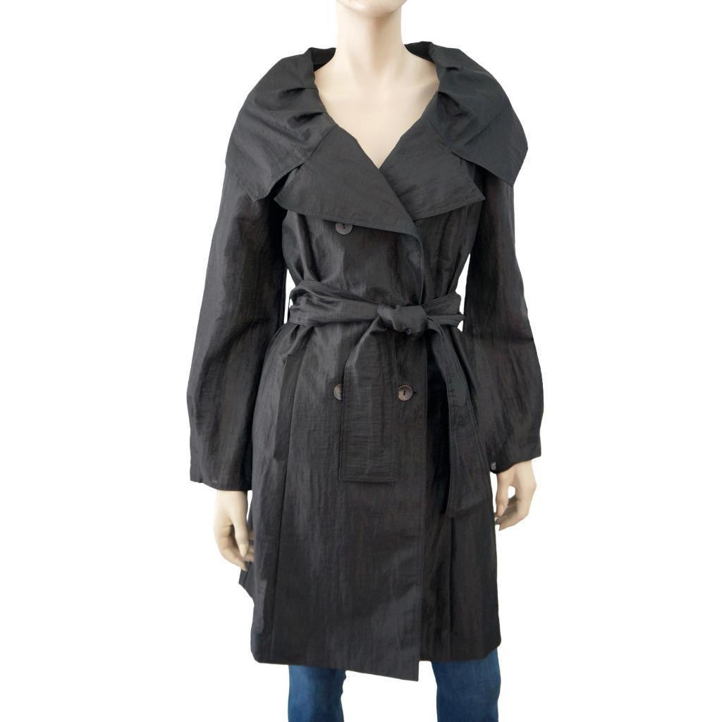 NOTIZIE DI MARIELLA BURANI Organza Trench Coat, IT 44 / US 10