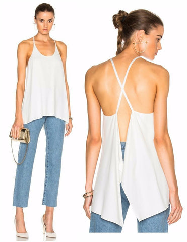 HELMUT LANG Spaghetti Strap Scarf Tank w/ Tags, Small