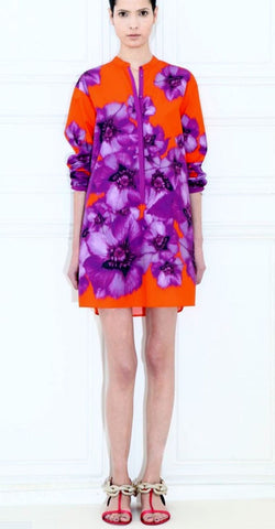 GIAMBATTISTA VALLI  Floral Cotton Tunic Dress, IT 46 / US 10-12