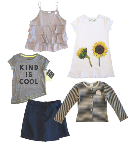 Lot Girls 6 6X DICKIES, JOTTUM, 3POMMES, KIND IS COOL, SEEDLING KIDS Tops Skirts