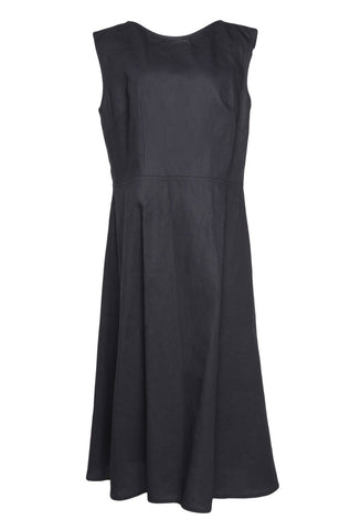 SOFIE D'HOORE Sleeveless Blue Cotton Midi Dress 42 US 10 CURRENT SEASON